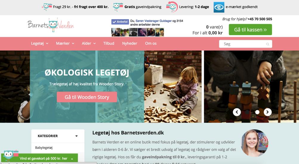 Screenshot af BarnetsVerden.dk